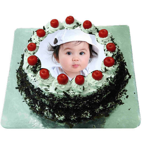 Adorned Ambrosia 1 Kg Black Forest Photo Cake