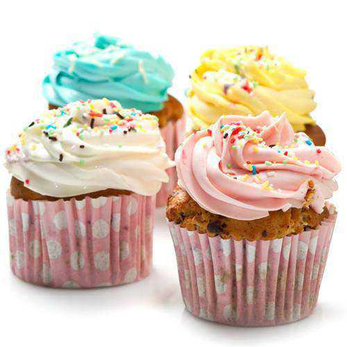 Classic Presentation of 4 Pc. Assorted Cup Cakes
