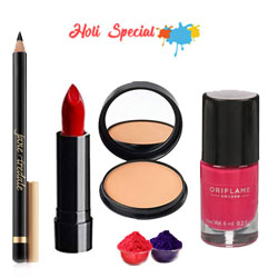 Lovely Make up Hamper  From Oriflame with free Gulal/Abir Pouch