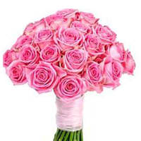 Dramatic 30 Pink Roses and Basketful Wishes