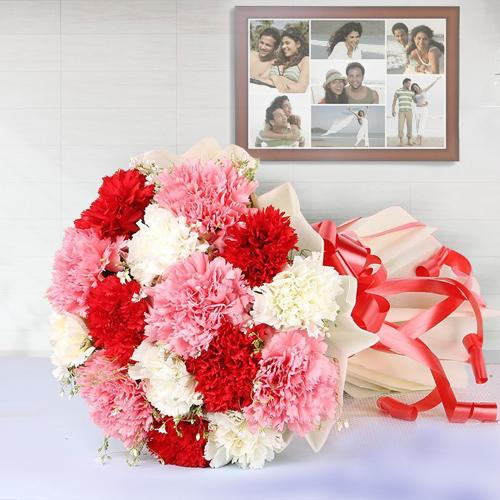 Luminous Selection of Mixed Colour Carnations