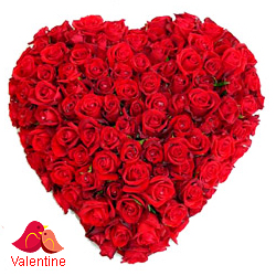 <u><font color=#008000> MidNight Delivery : </FONT></u>:200 Red Roses in Heart Shape Arrangement