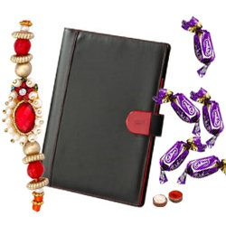 Leather Notebook with Chocolates
