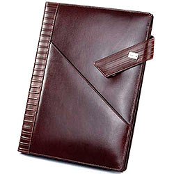 Genuine Leather Brown Colored Writing Cum Conference Pad from Leather Talk