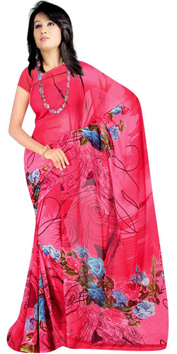 Enchanting Georgette Fabric Printed Saree Collection