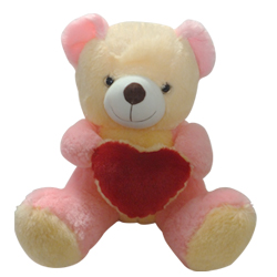 Love Teddy With Heart (16 inches)