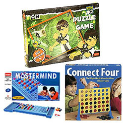 Connect 4, 60 pcs set of Ben 10 Puzzle Game and Mastermind for Young Ones Hamper