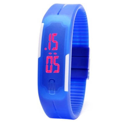 Eye-Catching Silicon LED Digital Unisex Watch