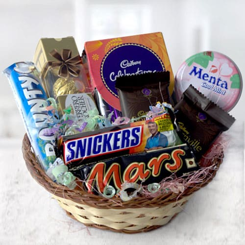 Mouth-Watering Mixed Chocos Gift basket