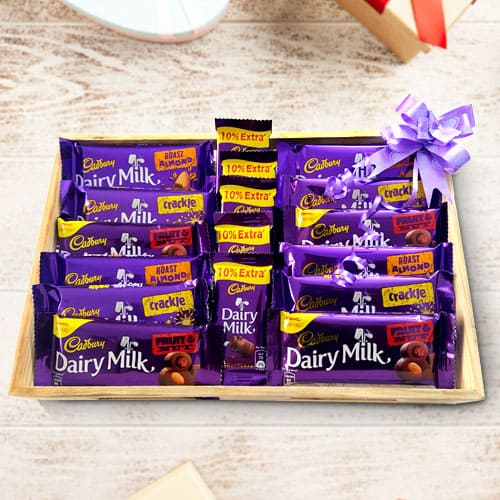 Pleasurable Cadbury Chocolates Gift Platter