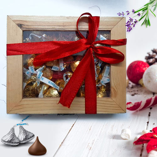 Tempting Hersheys Kisses Wooden Gift Box