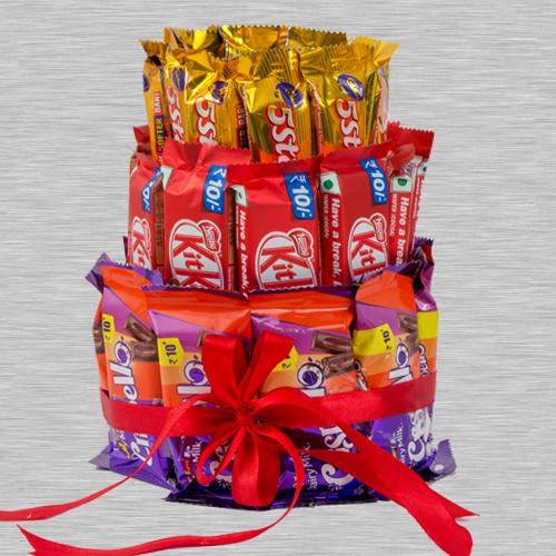 Amazing 3 Layer Arrangement of Kitkat, 5 Star n Crispello