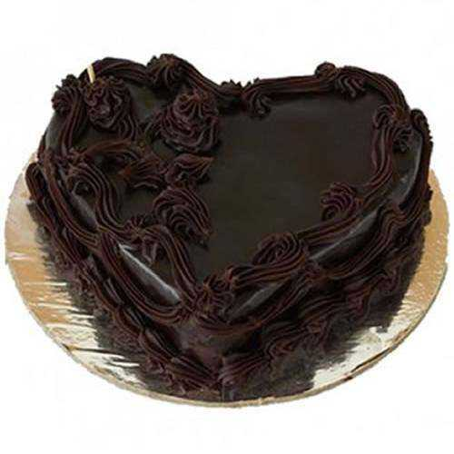 Yummy Heart-Shape  Chocolate Cake