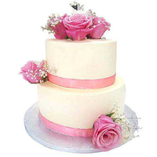 Gorgeous 2 Tier Wedding Cake