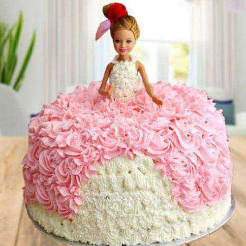 Piquant Kids Special White Forest Barbie Cake