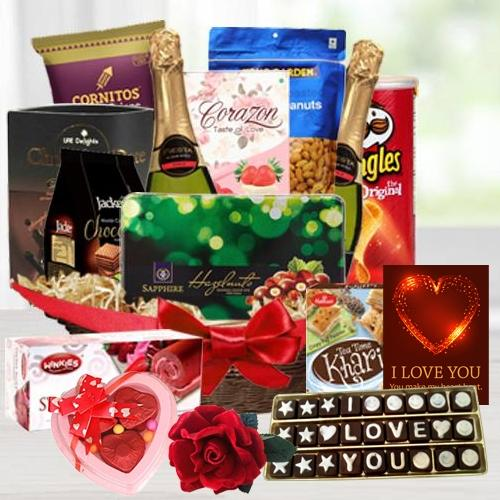 Extravagant Gourmet Delight Gift Hamper for Valentines Day