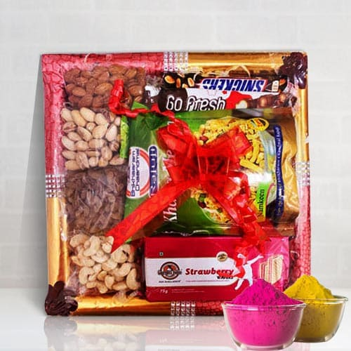 Delicious Dry Fruits n Assortments Fusion Gift Tray