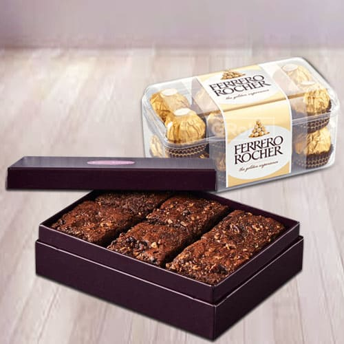 Irresistible Brownies with Ferrero Rocher