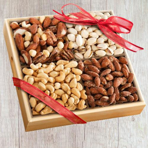 Outstanding Dry Fruits Gift Tray for Mothers Day