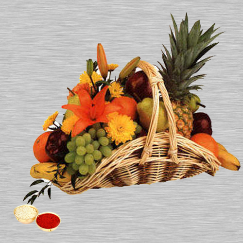 Fresh Fruit Basket 5 Kg with free Roli Tilak and Chawal
