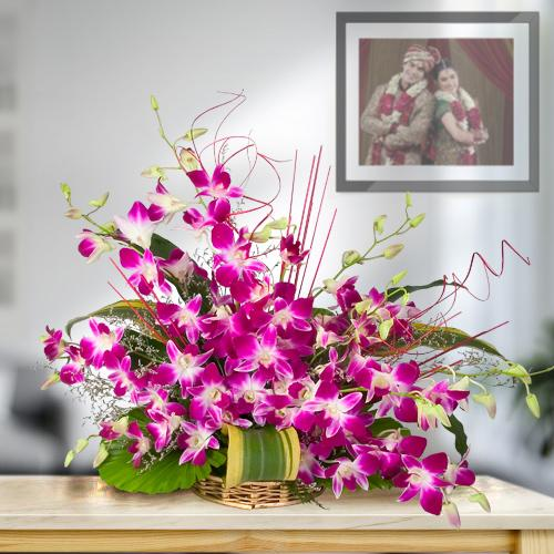 Arrangement of Tender Orchids Online