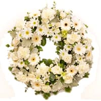 Awesome mixed Flower wreath