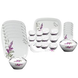 Milton 31 Pcs Melamine Square Round Dinner Set