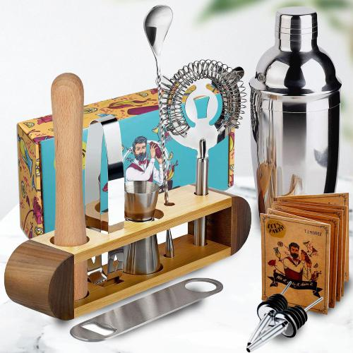 Admirable 11 Pc Bar Tool Set with Stand