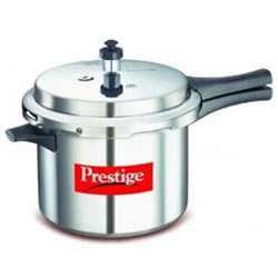 Prestige Deluxe + Induction Base Aluminium 5 Ltrs Pressure cooker
