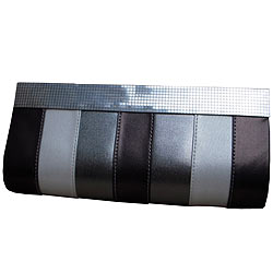 Trendy Ladies Silver coloured Clutch Bag for Evening Party from Spice Art