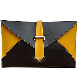 Lovely Spice Art Yellow and Black Ladies Clutch