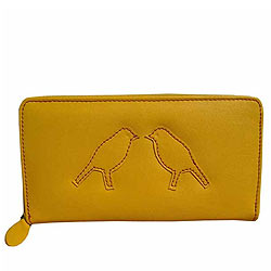 Classic Spice Art Yellow Ladies Purse with Epitome of Beauty