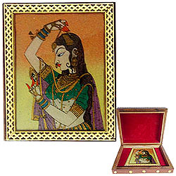 Attractive Ladies Special Meenakari styled Wooden Jewellery Box