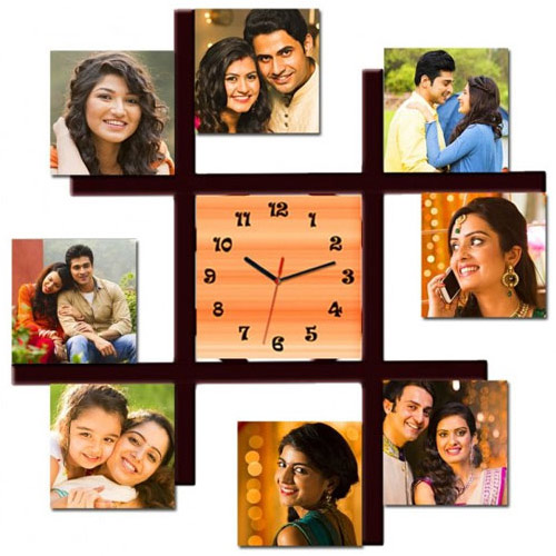 Amazing Personalized Photo Wall Clock