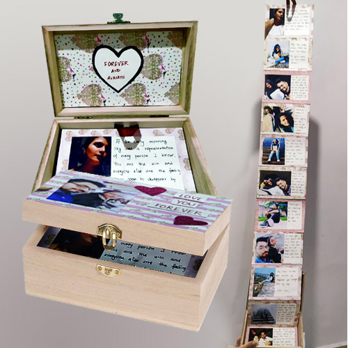Graceful Infinity Box of Personalized Message n Photos