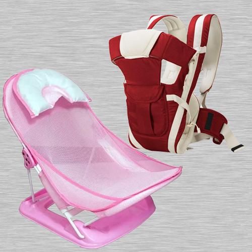 Wonderful Baby Carrier Cum Kangaroo Bag N Baby Bather