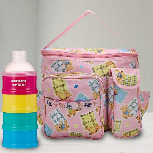 Exclusive Milk Powder Container N Compartment Baby Bag