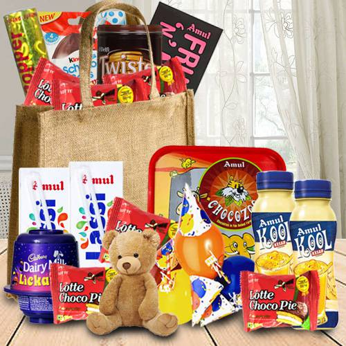 Amazing Birthday Chocolates Hamper for Kids