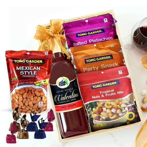 Marvelous Mixed Dry Fruits N Grape Drink Gift Hamper