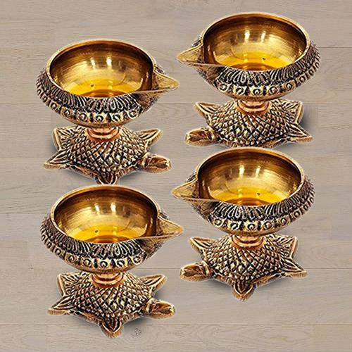 Exclusive Brass Diya Set
