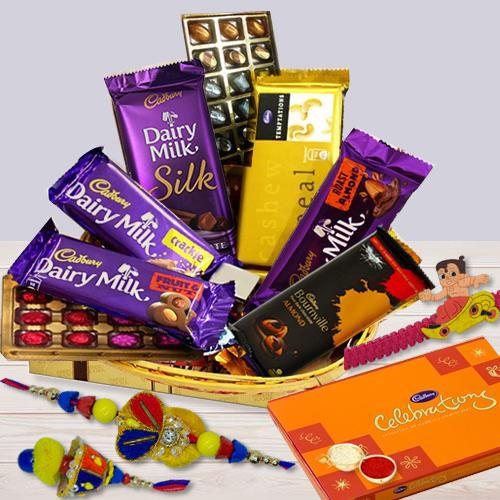 Raksha Bandhan Gifts with Family Set Rakhi
