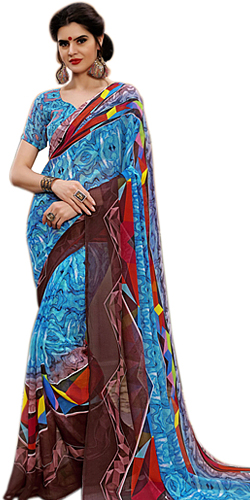Pretty Marbel Chiffon Designer Saree for Special Women