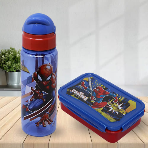 Exclusive Marvel Spiderman Tiffin N Sipper Bottle Set