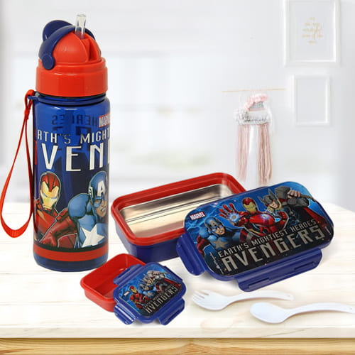 Marvelous Marvel Lunch Box n Sipper Bottle Combo