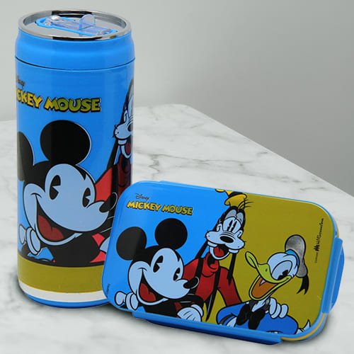 Alluring Mickey Mouse Lunch Box and Sipper Bottle Combo