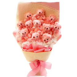Wonderful Bouquet of Teddy