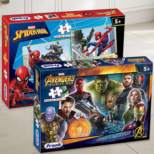 Wonderful Frank Marvel Spider-Man N Avengers Infinity War Puzzle Set